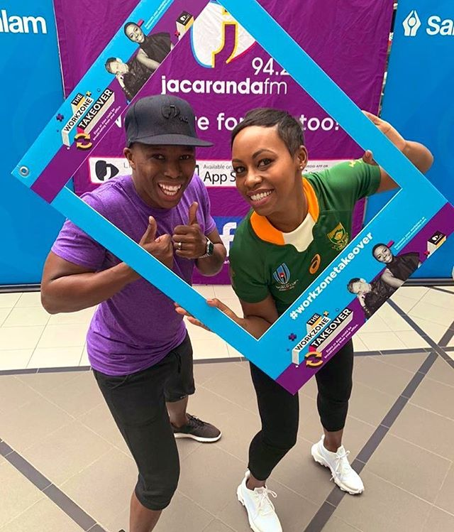 ‪Lovely morning coming to you live from @sanlam_group in #CapeTown for our #WorkzoneTakeoverCT  @jacarandafm 📻 ‬