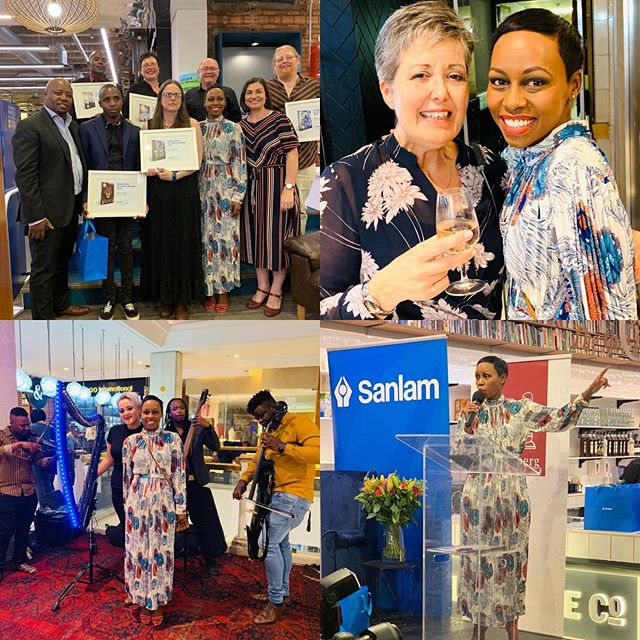At the 2019 @sanlam_group Pryse vir Jeuglektuur / Prized for Youth Literature. I saw my girl @judeharpstar_official. Play my girl! Stunnnning #Harps #Books ❤ #SanlamTafelberg2019  @nb_bookstagram