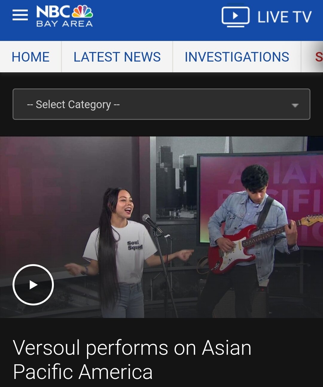 Versoul performs on Asian Pacific America