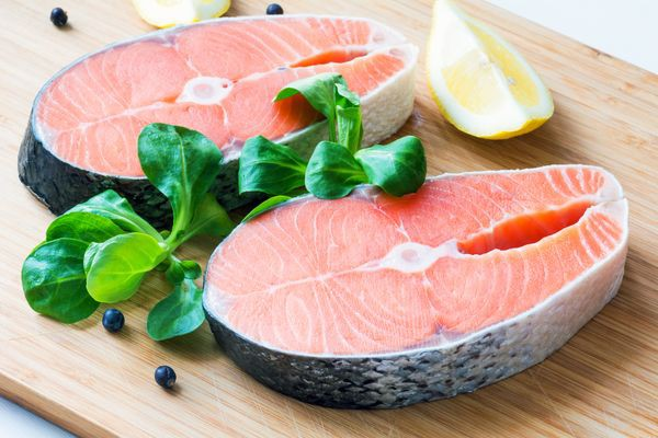 SALMON STEAKS We have salmon steaks and whole fish available in all types when fresh in store during species run openings.