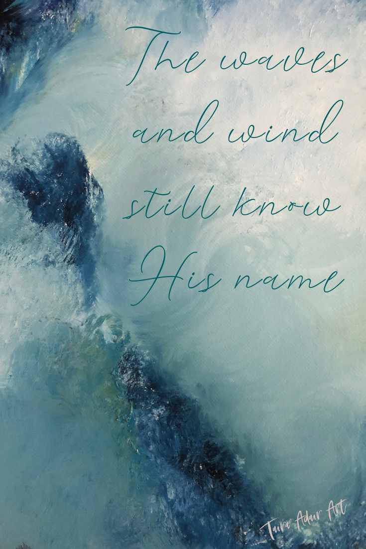 """The waves and wind still know His name"" Feel free to pin or screenshot to use as your phone background! I! If shared on social media or elsewhere, please tag me @tairaadair.art to give credit! Printing of this image is prohibited by copyright."
