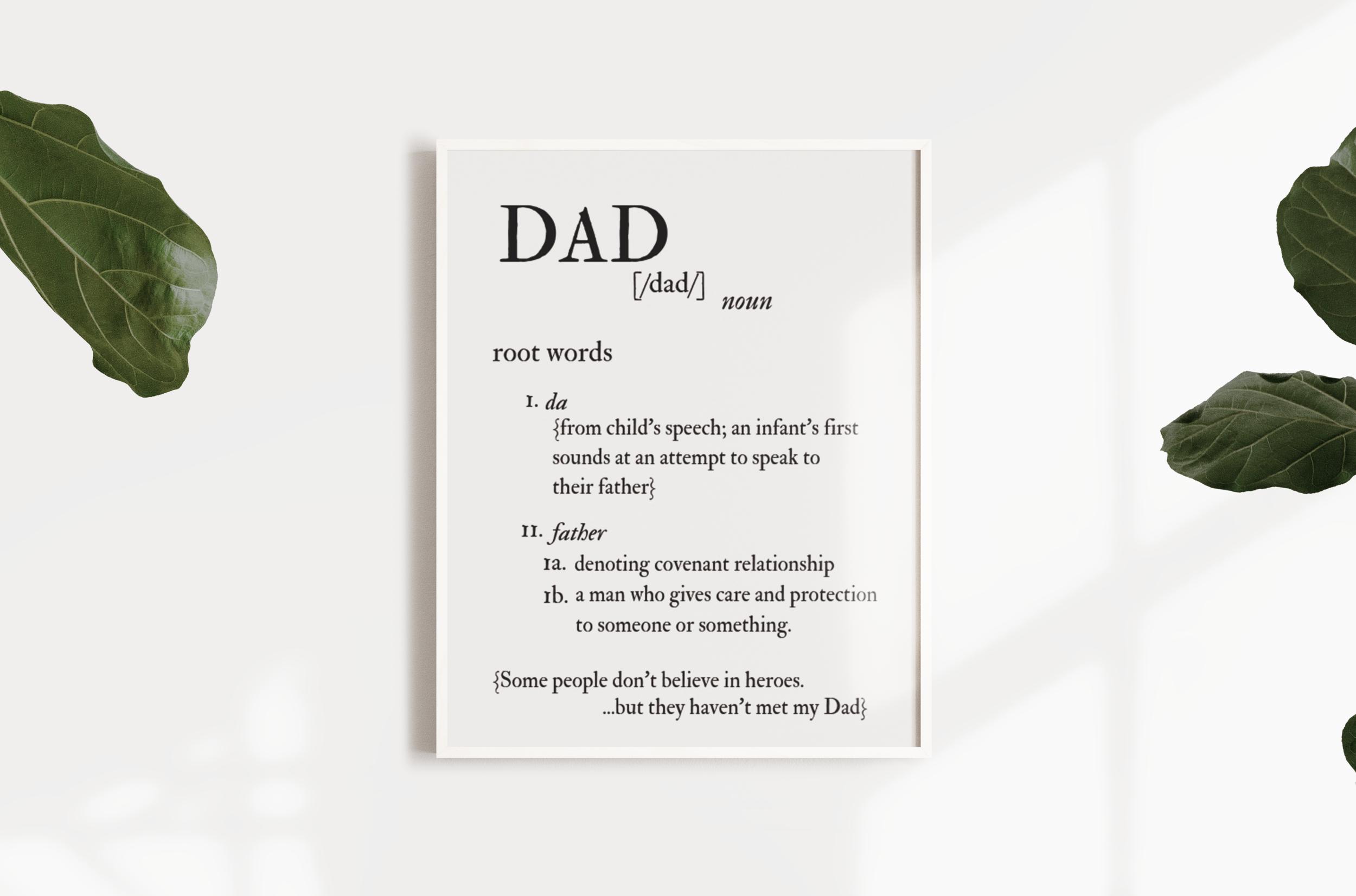 Dad Etymology Print
