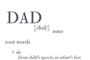 """""""Dad"""" Print for Any Budget"""