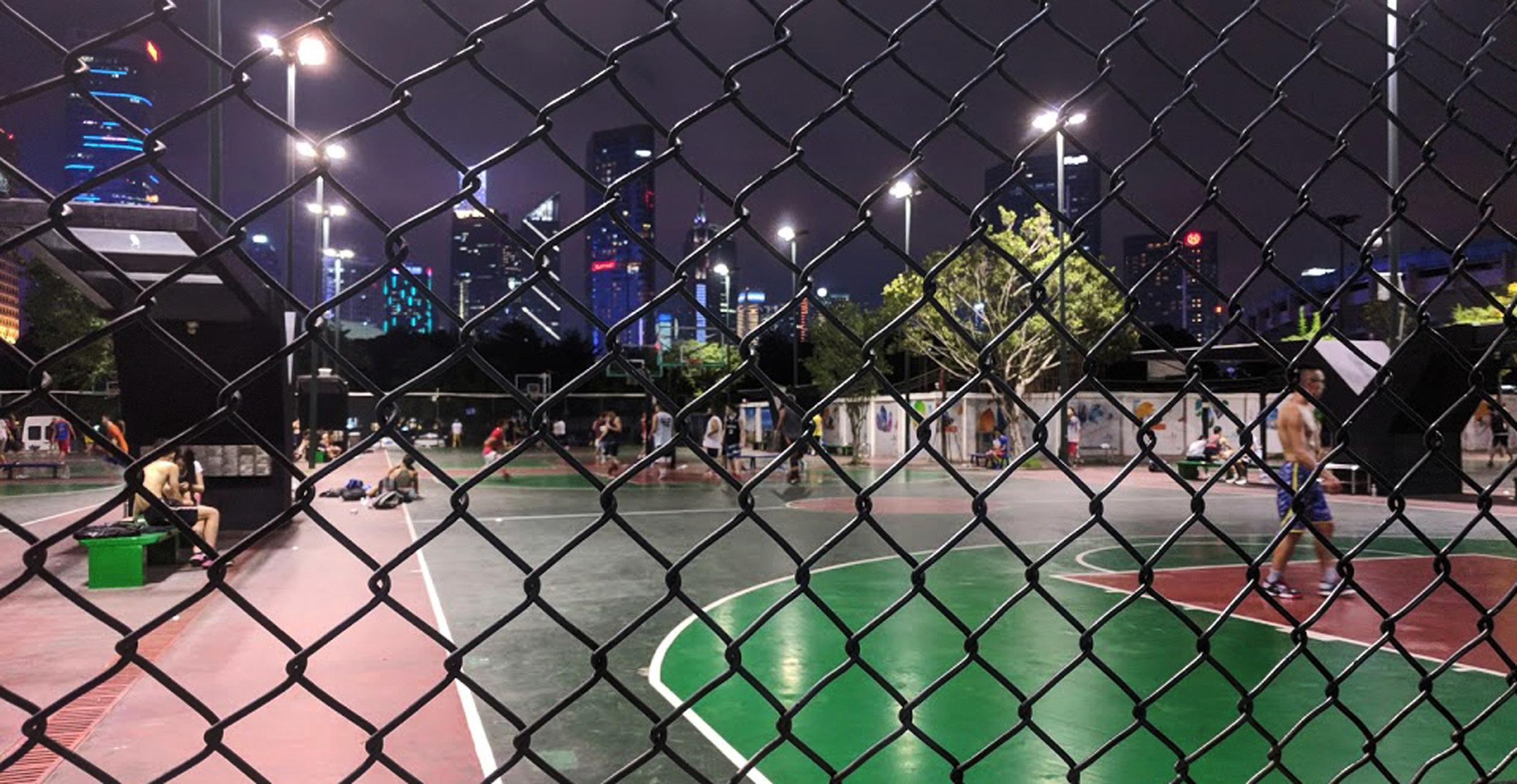 Guangzhou basketball court