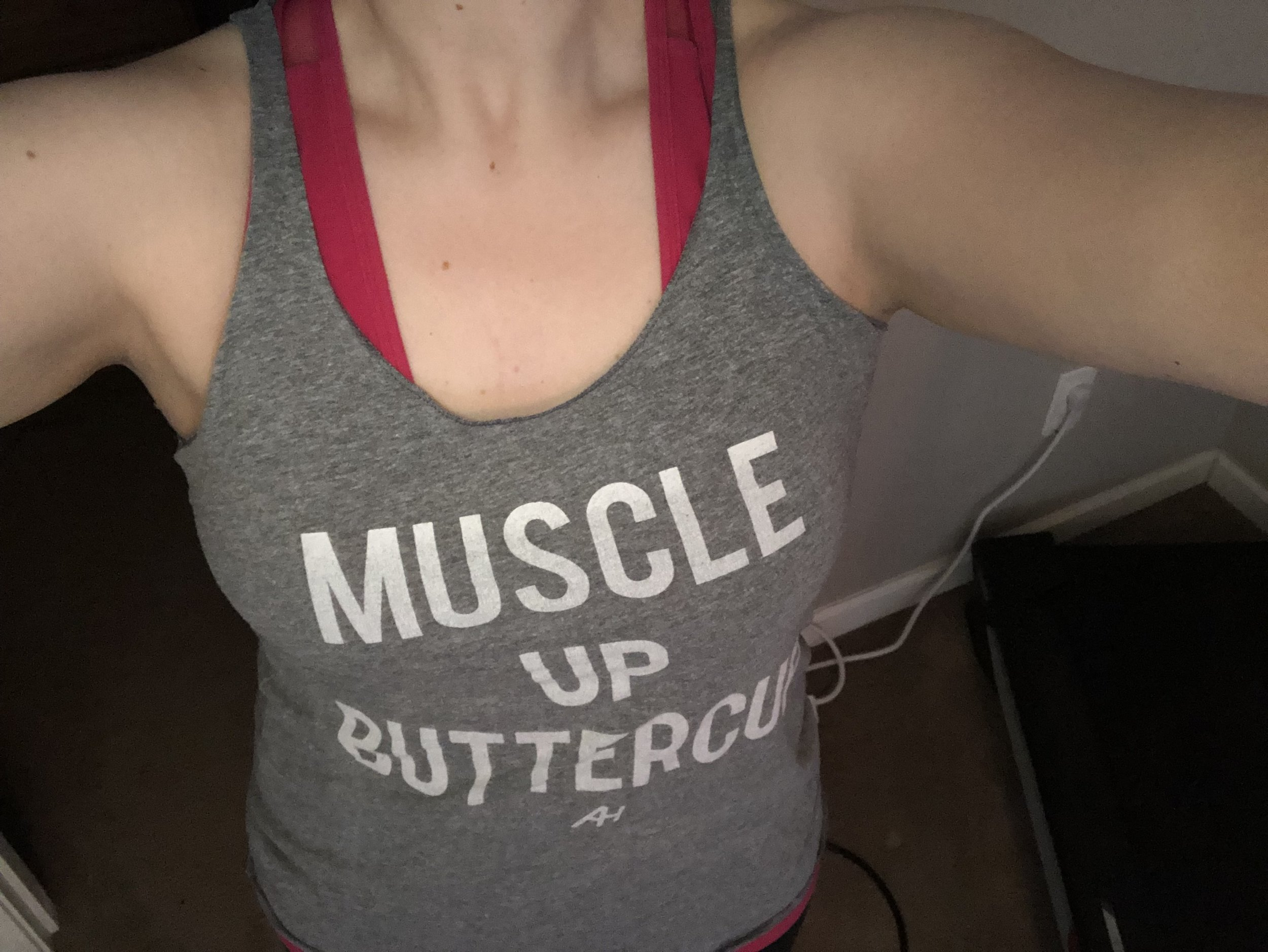 Motivational workout tank is not essential, but highly recommended