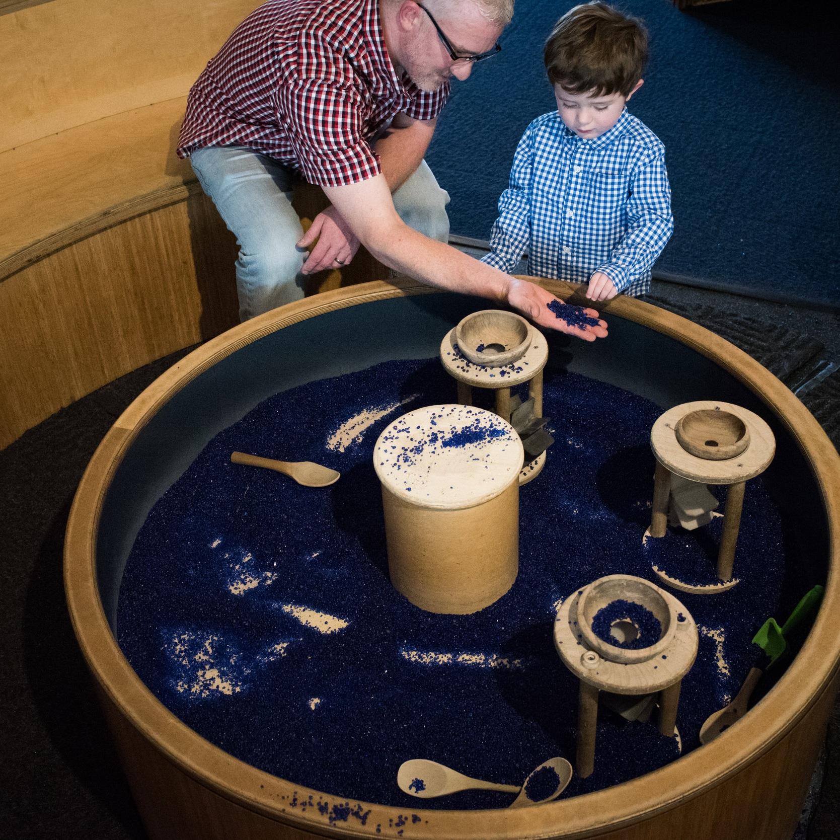 sensory exploration table -