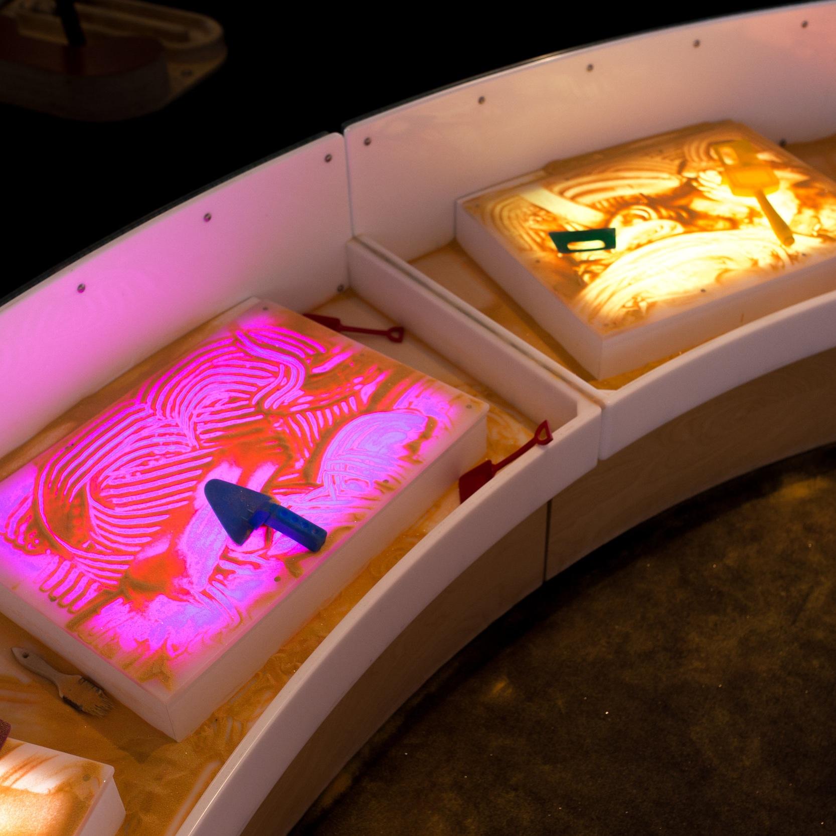 sand light table -