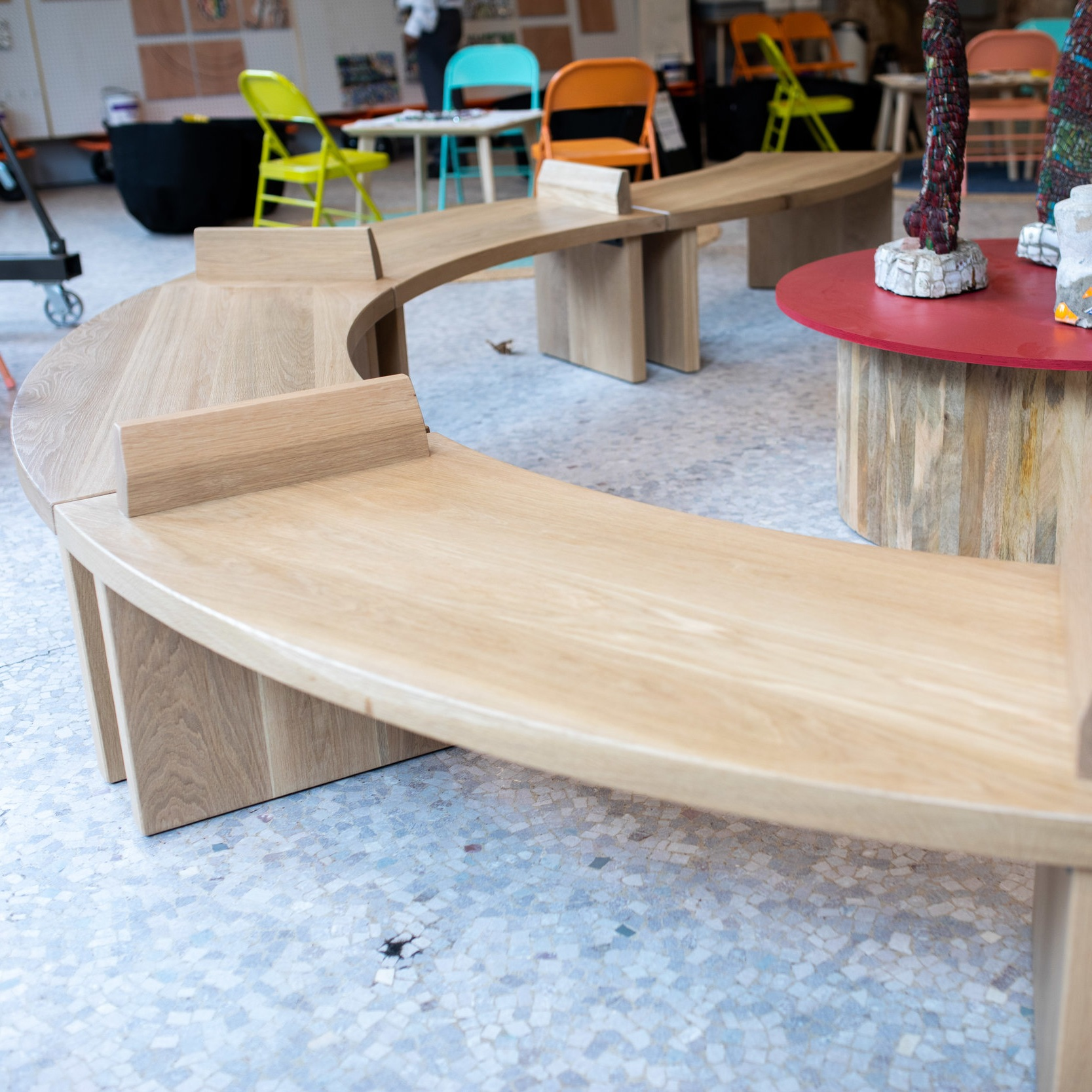 custom tables + benches -