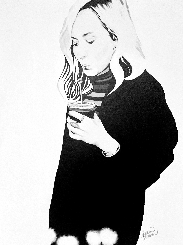 Kristin Freeman, 2017  Fizz  Acrylic on Canvas  36in X 48in