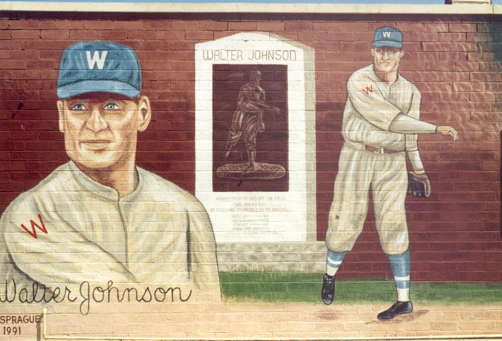 DON SPRAGUE MURALS, Walter Johnson, Coffeyville, Kansas
