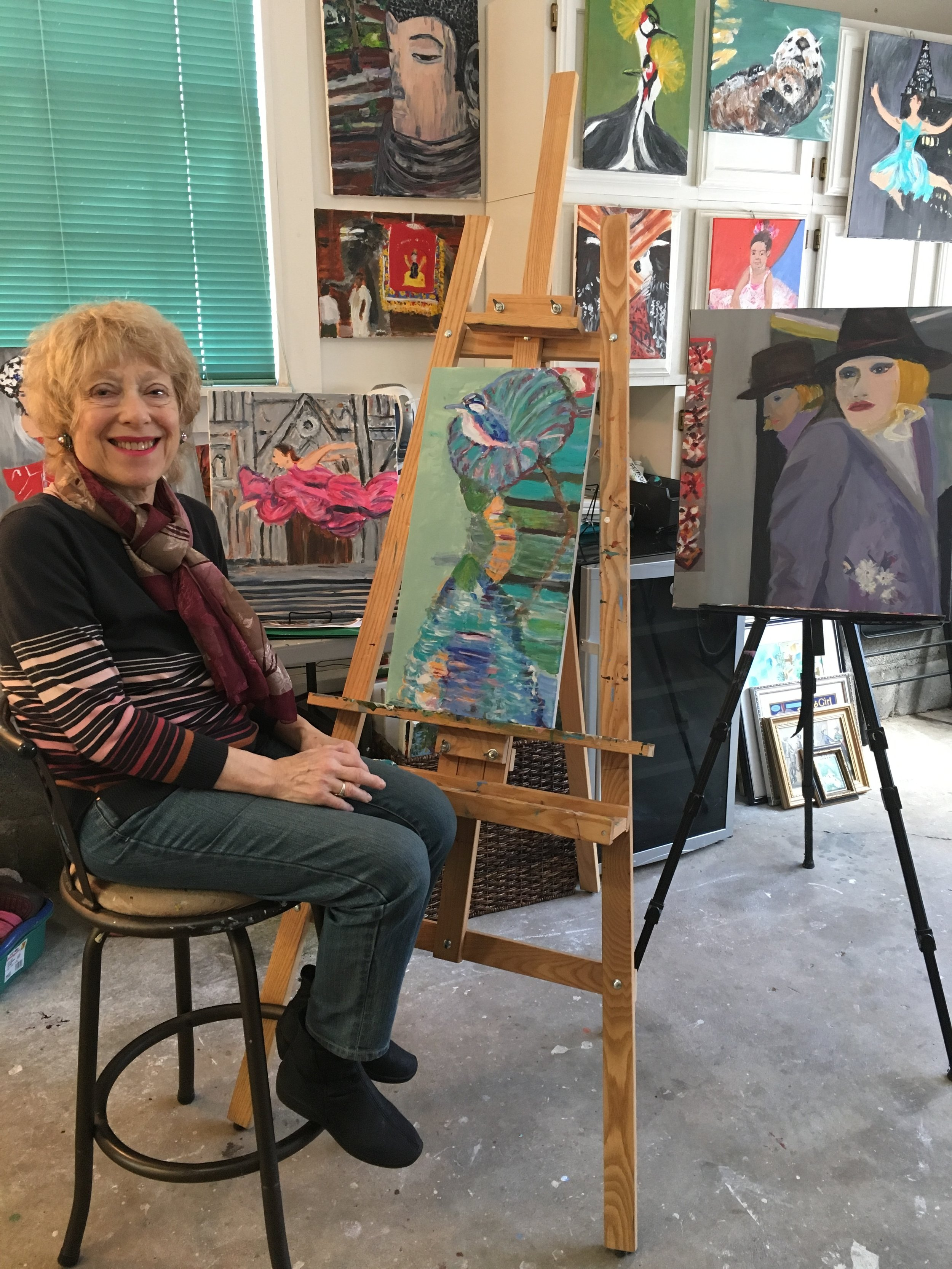 Marjorie Magid in her Saugerties Studio
