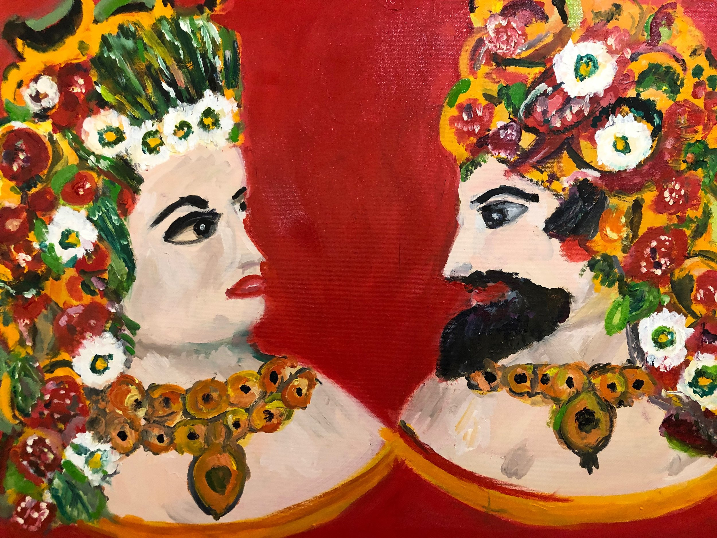 Two Sicilian Heads