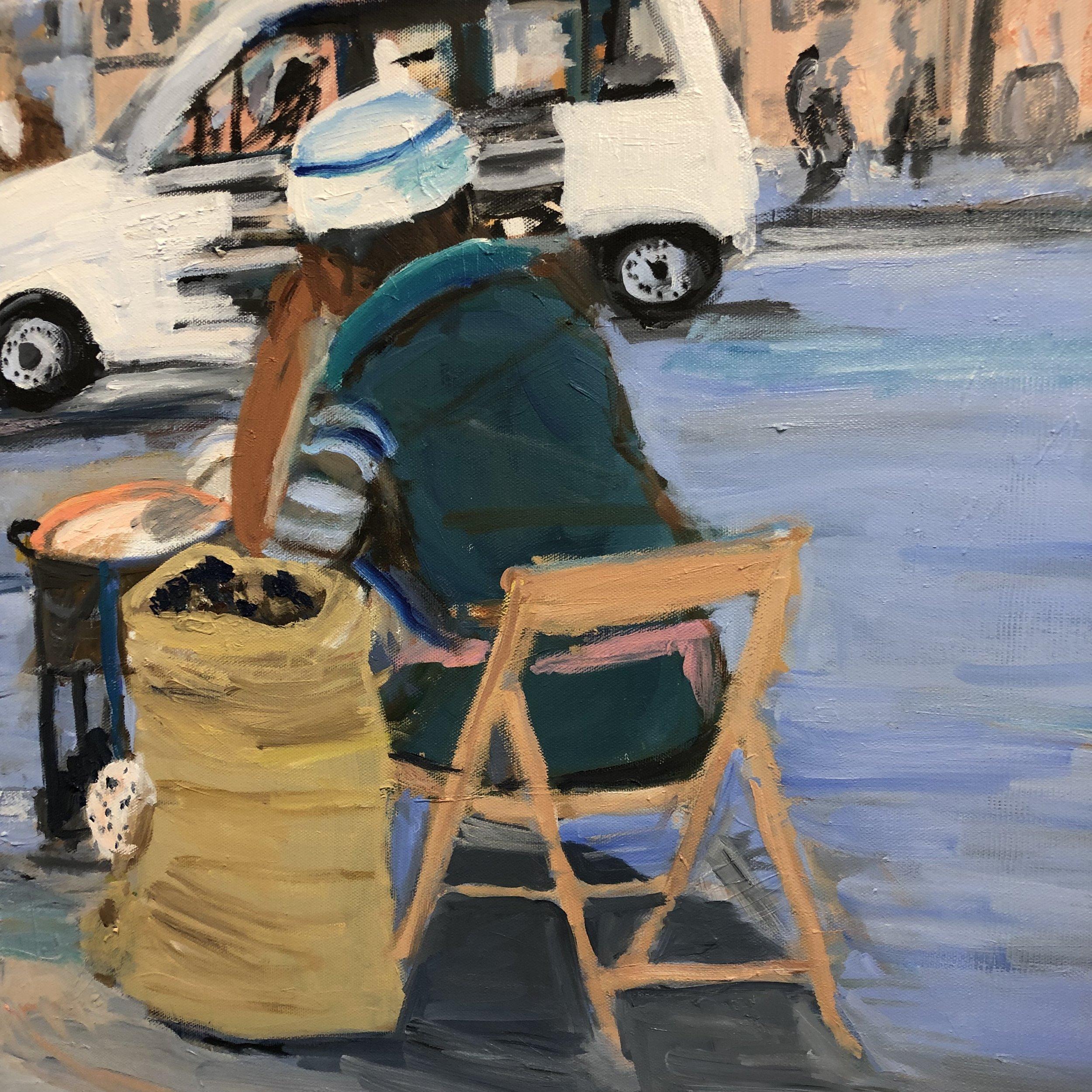 Streetscene in Rome (Chestnut seller)