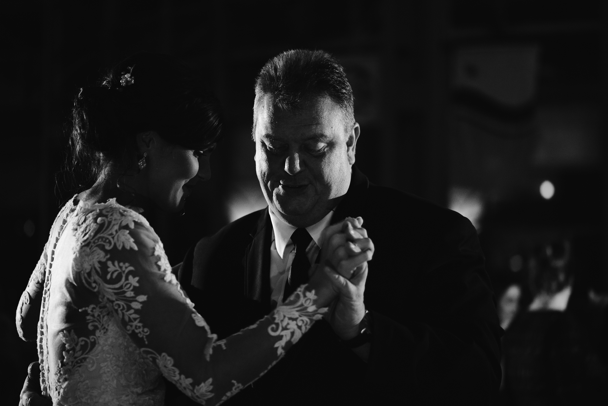 bride with father for father daughter dance