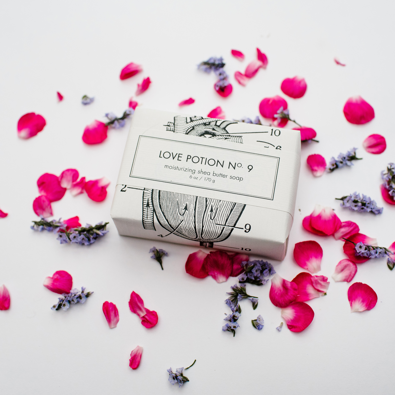 soap bar with flower petals around