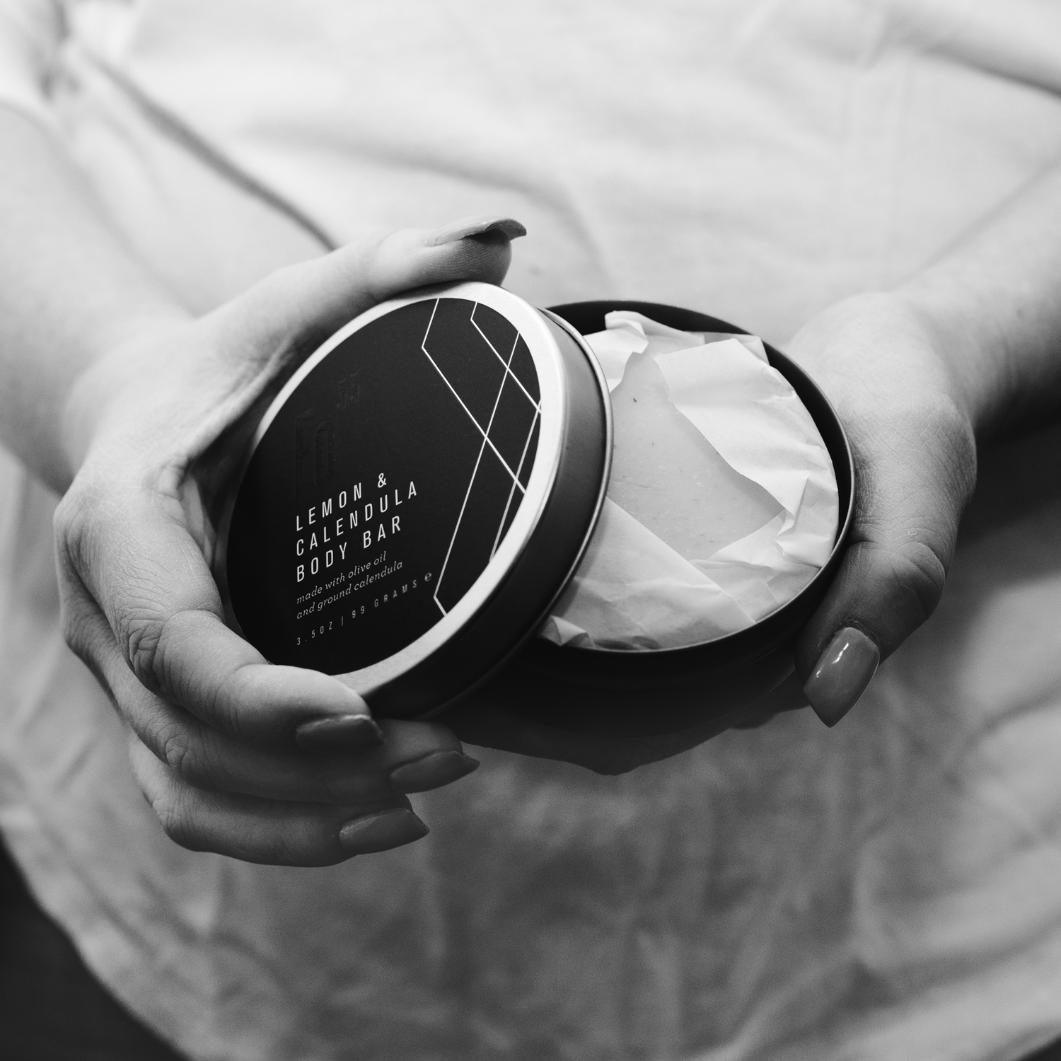 product photography with woman's hands