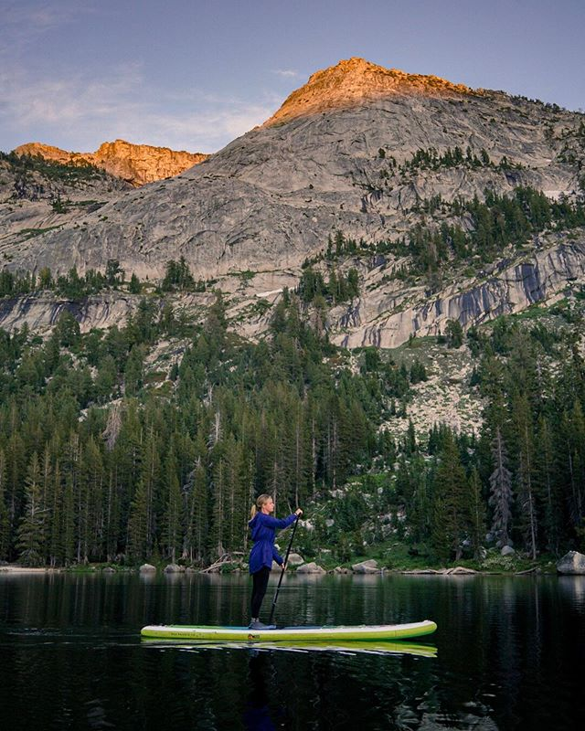 Exploring Yosemite National Park our own way. Leah and I tend to avoid national parks. They're limited on 'dog-friendly' adventures, often crowded, hard to camp in and sometimes even over developed.  Paddling is one thing that gets us away from crowds in busy places like Yosemite. We got on this lake at 7pm and had it to ourselves through sunset.  #ExploreYourWorld @redpaddleco