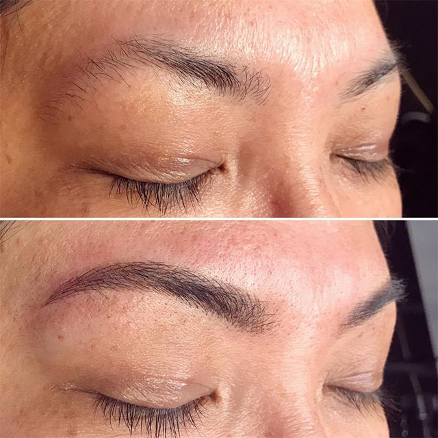 Brow builds after two sessions 🔧💪🏼 These new babies make my heart flutter 🦋 #seattlecosmetictattoo #seattlemicroblading #westseattlemicroblading #eyebrowgoals #seattlebrows #westseattlebrows #beforeandafter #transformation #ladywolfstudio #browsruleeverythingaroundme #babebrows #tinadaviespermablend #permablendpigments #seattle #westseattle #lovewhatyoudo #brows