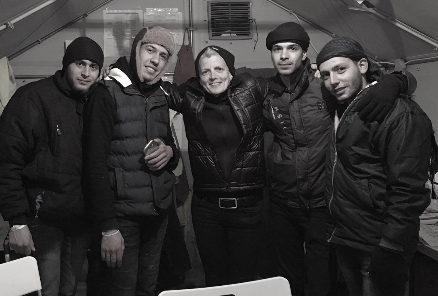Kel and 4 Syrian Refugees.JPG