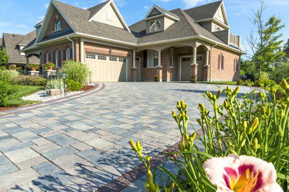 Concrete Pavers for the Look of a Bluestone Driveway in Sullivan County, NY