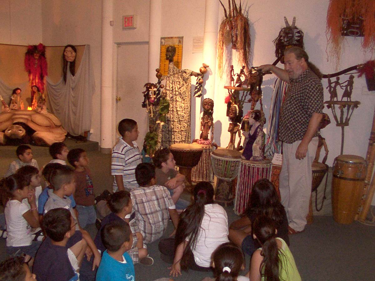 EDUCATIONAL PROGRAMS - Educational programming is presented through PuppetART's comprehensive Journey With Puppets program, including school tours, studio workshops, and museum lectures and displays.