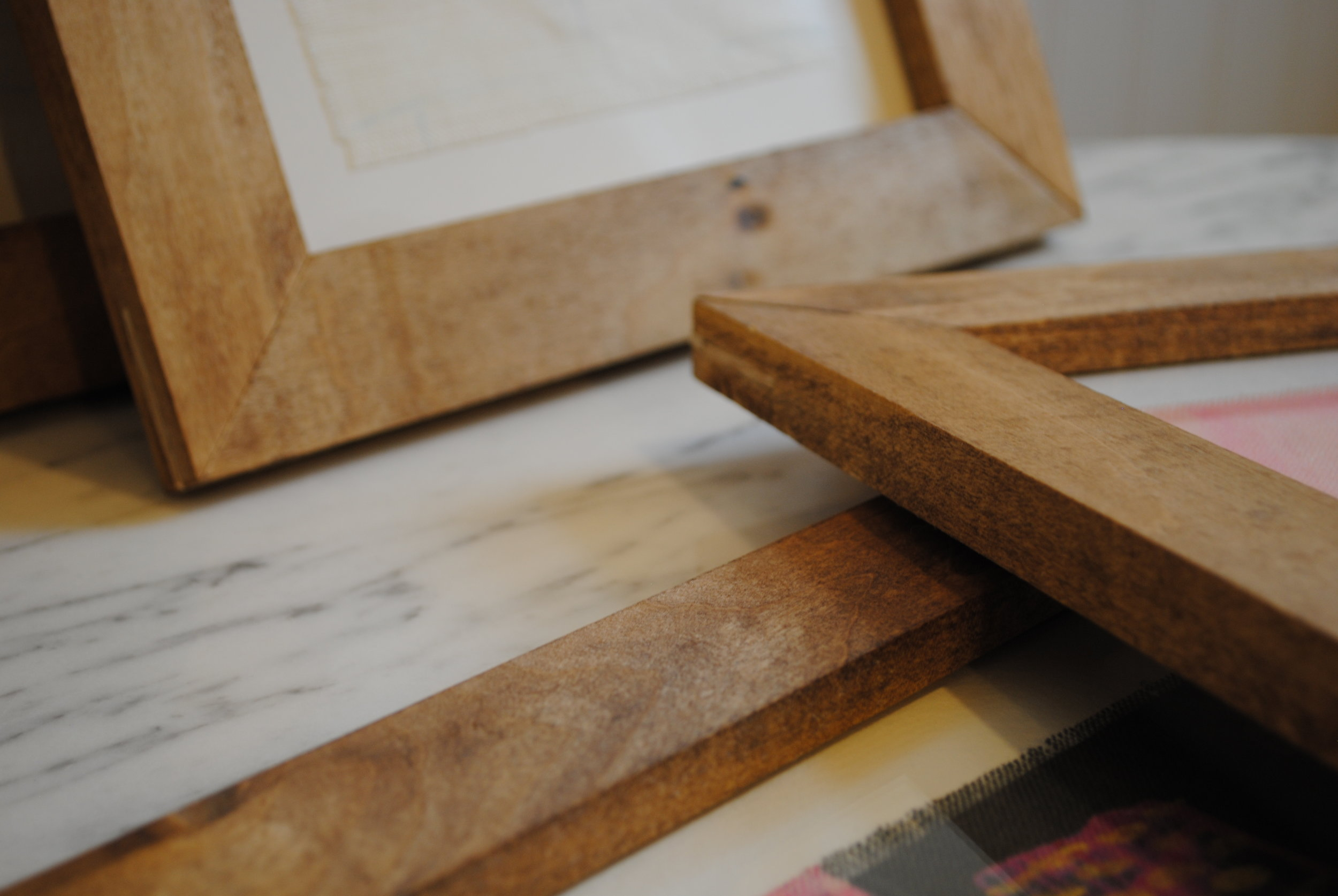 collecture swatch frame woodwork