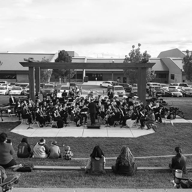 Outdoor concert with the DSU Symphony Band! Lots of wonderful band music by Sousa, Standridge, and Vaughn-Williams. #BetterTogether #StayInBand