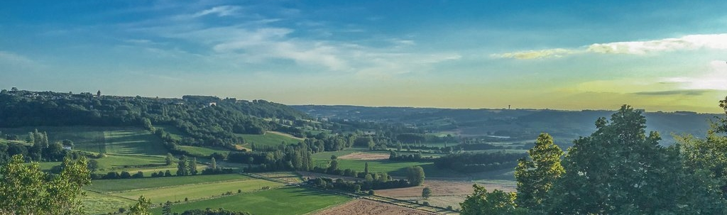 View from chateau marcoux