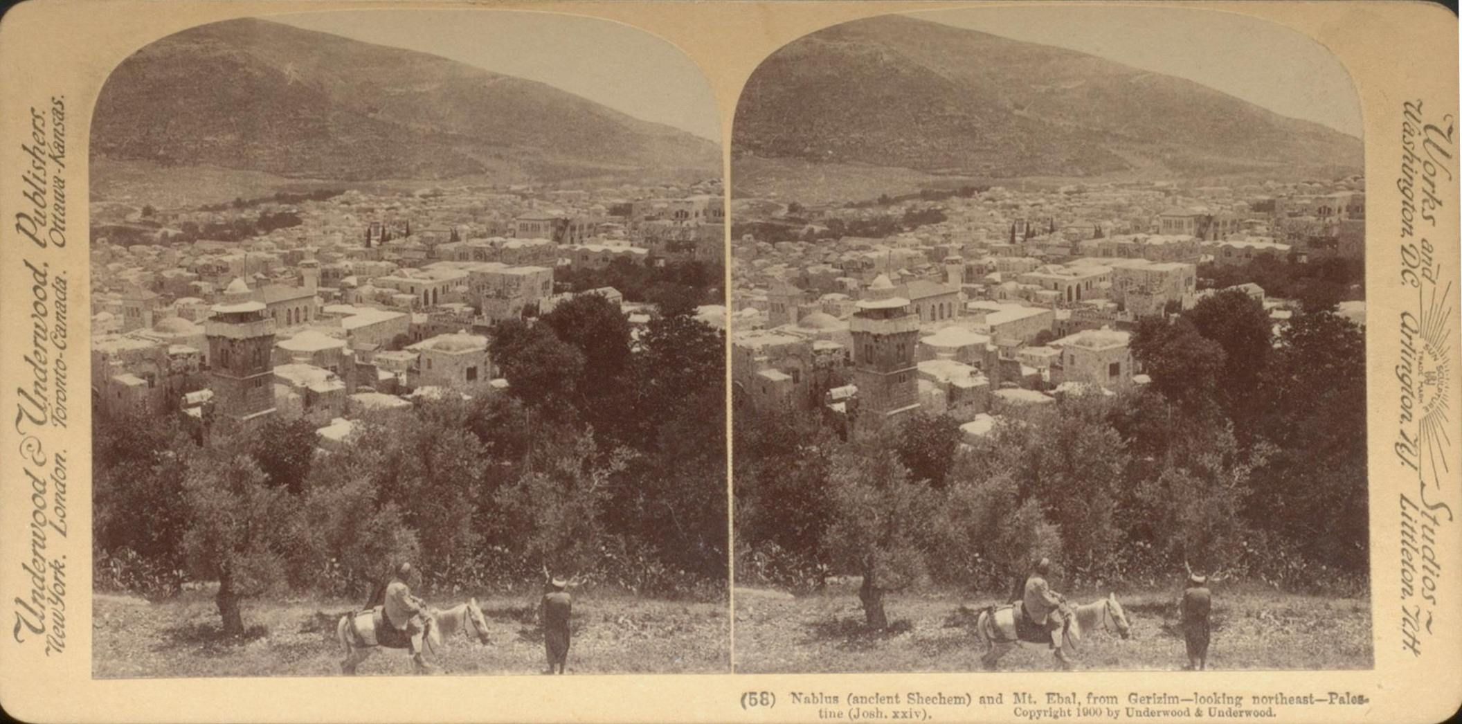 Stereoscope Photo from 1900 Shechem |The Journey: A New Generation Church of Christ