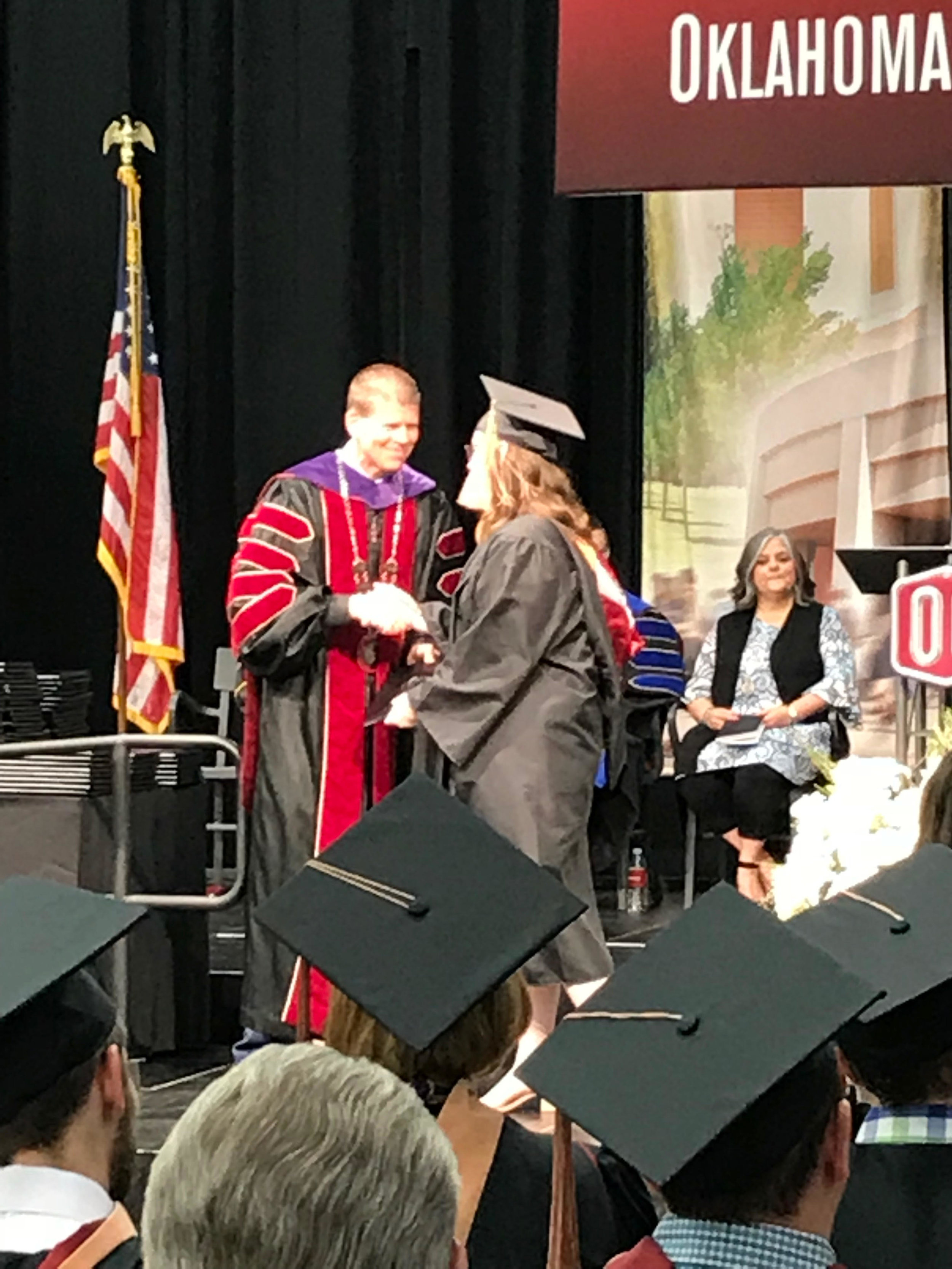 That's me walking the stage at graduation!