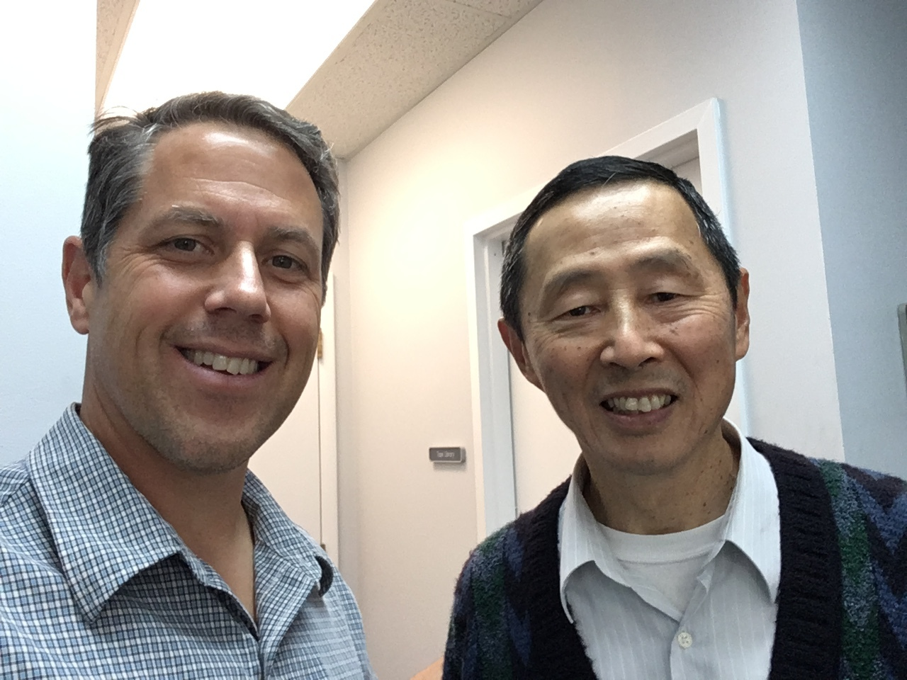 Greg Taylor with Chinese language specialist Edward Ho