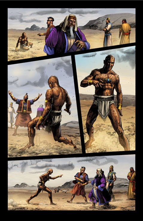 Used by permission of Kingstone Comics | Eliphaz in the story of Job