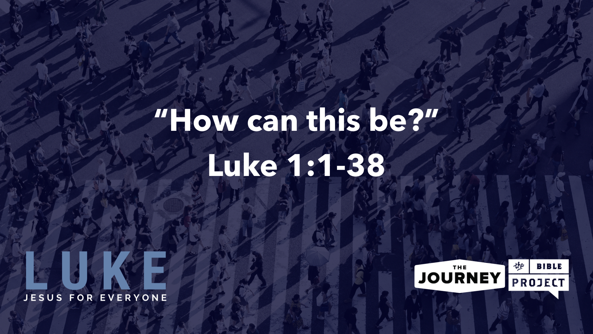 """The Journey begins Dec 9, 2018 a new series called """"Luke: Jesus for Everyone,"""" the next book we are reading, studying, preaching and teaching through in The Journey Bible Project"""