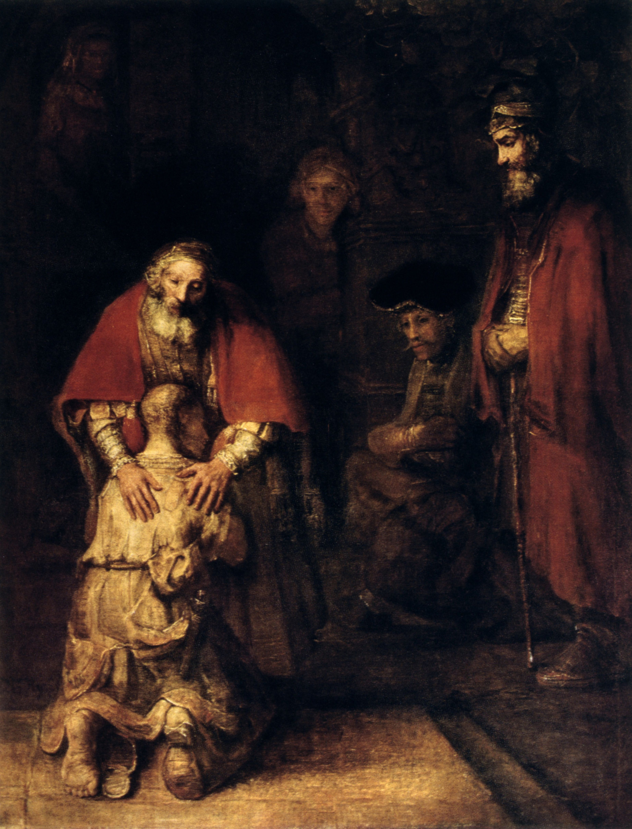 "Rembrandt van Rijn, 1661, ""Return of the Prodigal Son"""
