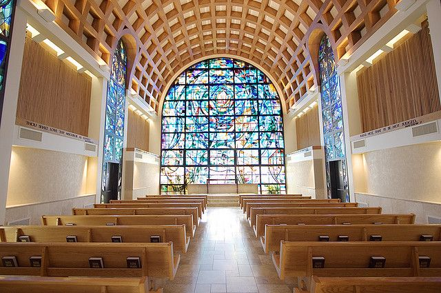 "Stauffer's Chapel, where Greg Taylor and Cory Legg will be presenting, ""Singing Scripture,"" 9 pm Tuesday, April 30, at Harbor 2019 on the Pepperdine University campus."