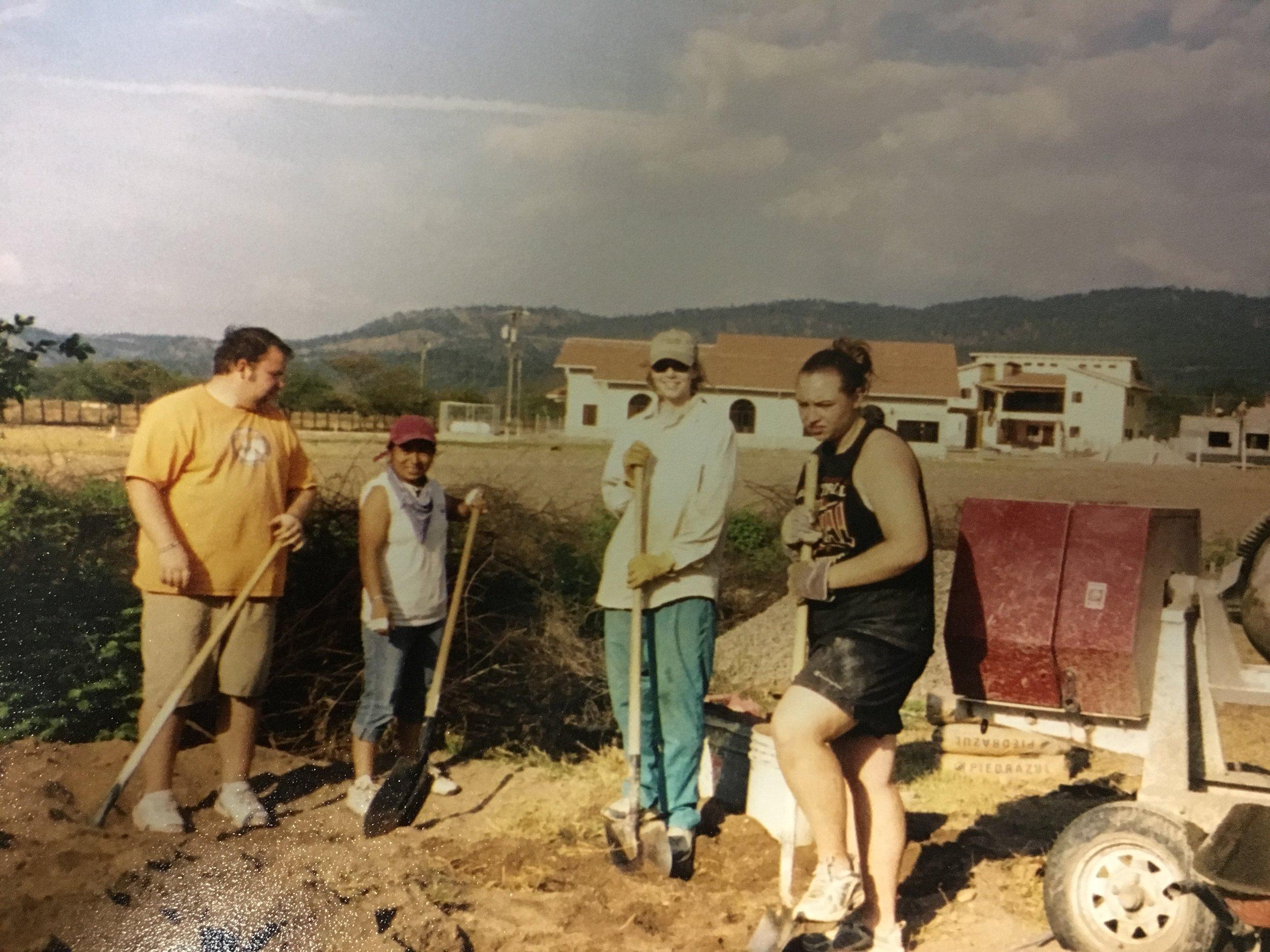 Bartola, second from left, Dr. Barrie Kaiser, far right