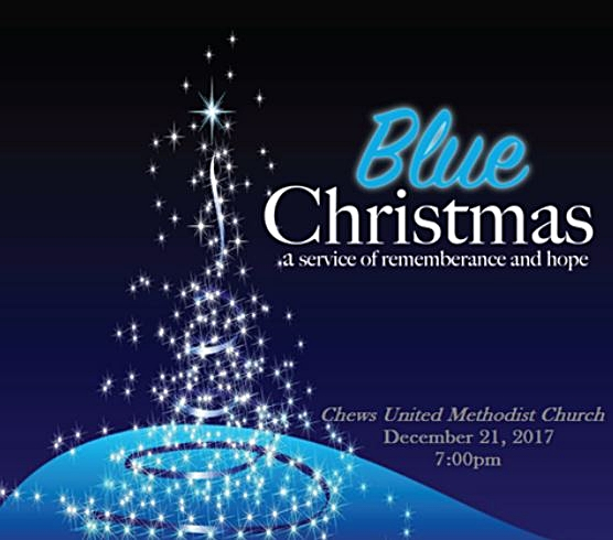 December 21, 2017, at 7:00 pm - Blue Christmas Service  Christmas is expected to be a joyful and cheerful time of year. For some, this is not so. Some people are dealing with the death of a loved one, facing life after divorce or separation, coping with the loss of a job, living with cancer or some other disease that puts a question mark over the future. This can make Worship, parties, and celebrations painful for many people in our congregations and community.