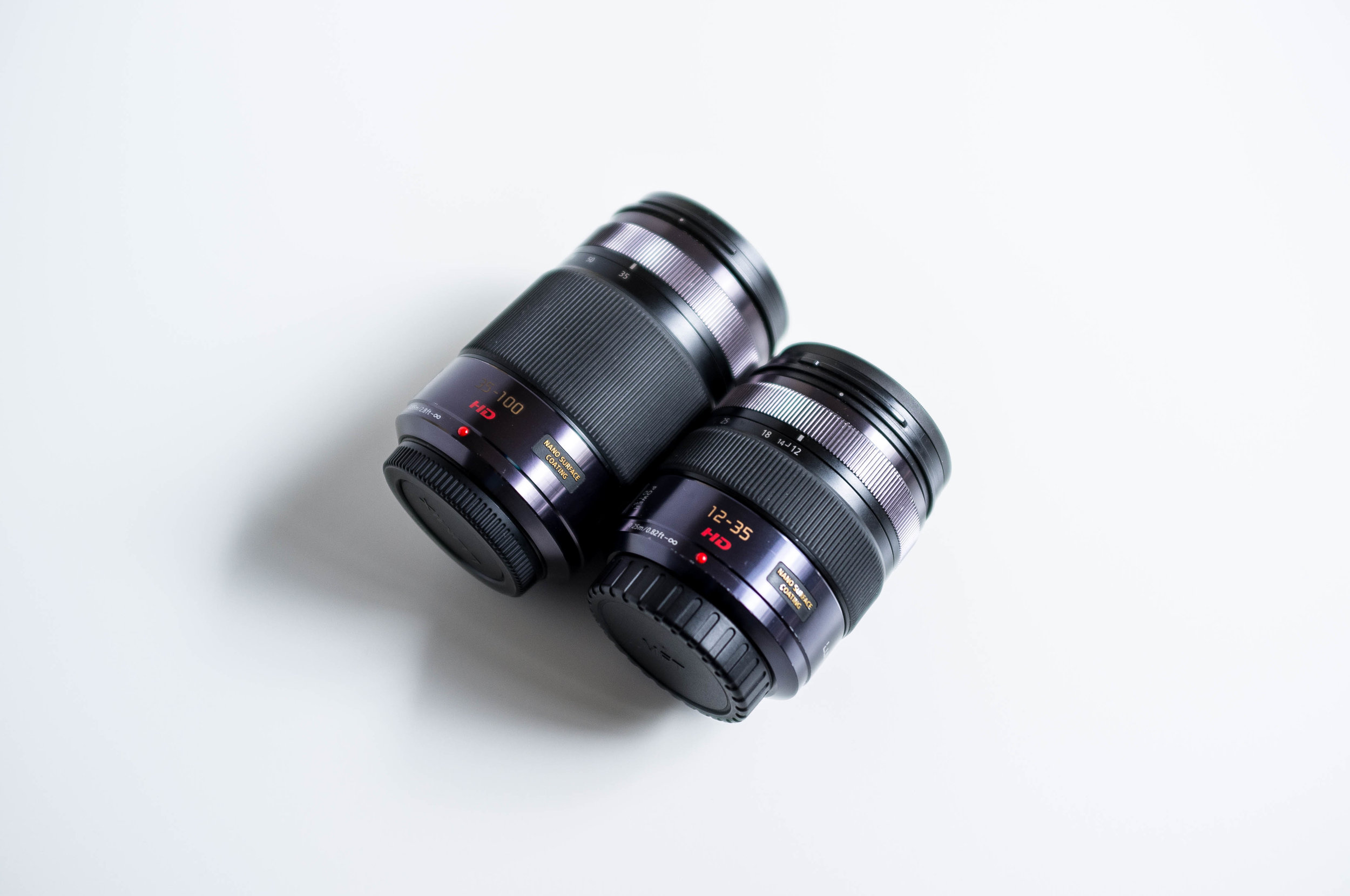 Panasonic 12-35mm f/2.8 and 35-100mm f/2.8