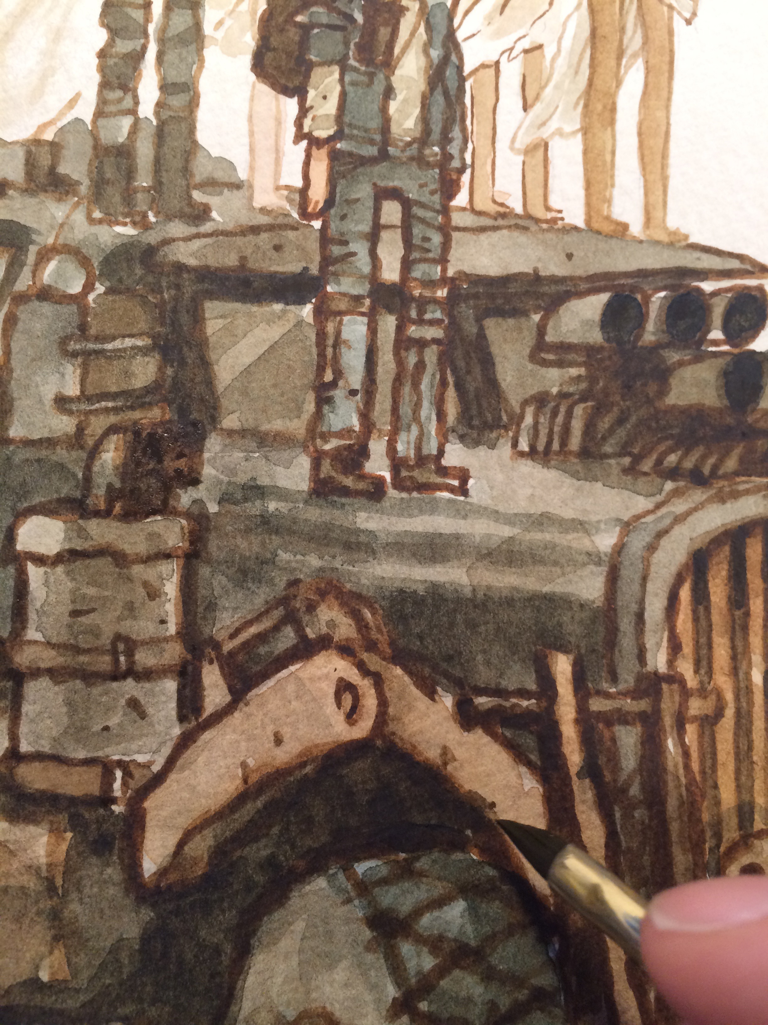 I can finally figure out what certain parts look like. Like this arm here that raises the scoop plow on the front of the War Rig. These are things i wouldn't have ever noticed had i not painted these things! i like to discover those little things in the designs.