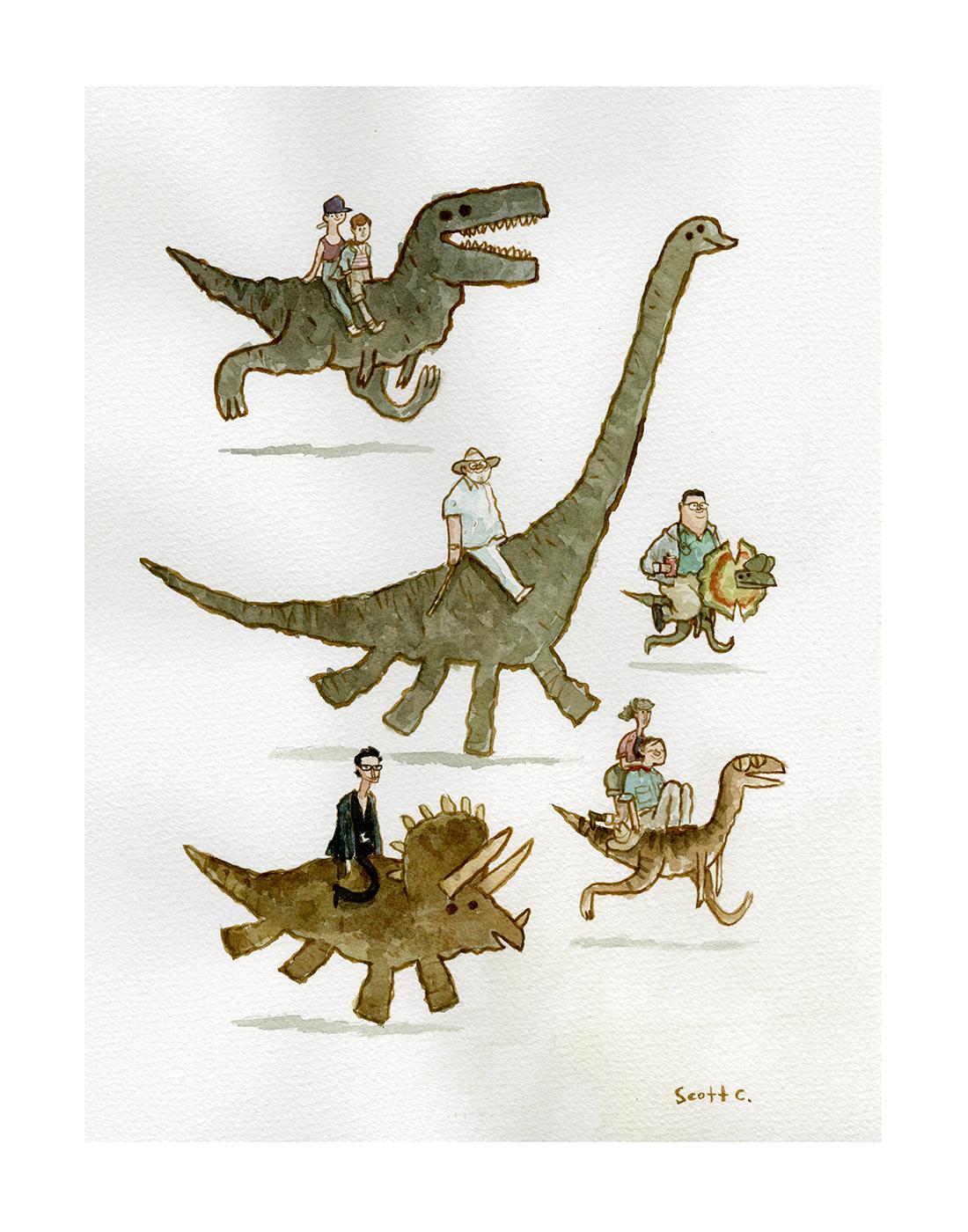 2. Jurassic Backs print – $30