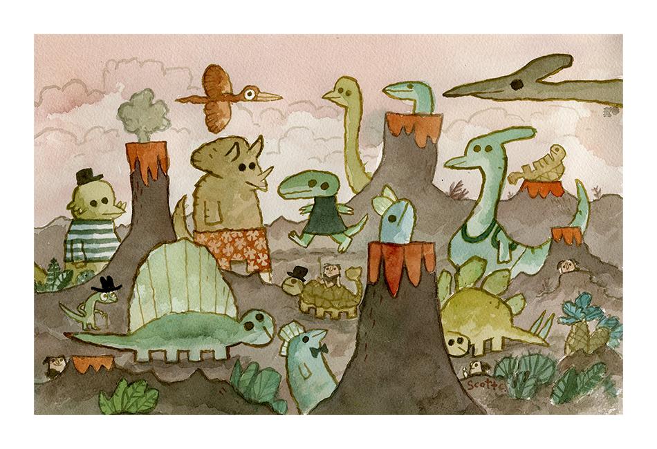 """Dinosaur Day""print – $45 (13×19, edition of 100)"