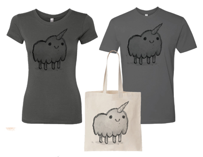 Unicorn Tote Bag – $15 // Unicorn Shirt (Men's and Women's styles!) – $20