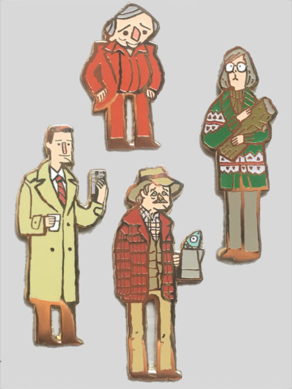 The Great Northern Pin Party!  Pete, Coop, Log Lady, and Man in Red will all be available in limited supply! $10 each