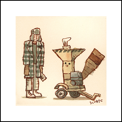 WOOD CHIPPER   $15 - Edition of 50