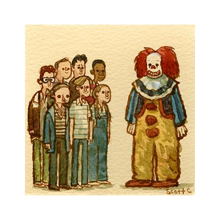 """ The Clown ""  $15 - 4.75 x 4.75 inches"