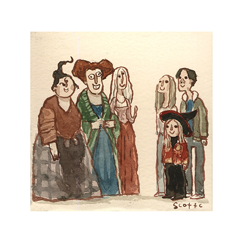 """""""The Witches""""   $15 - 4.75 x 4.75 inches"""