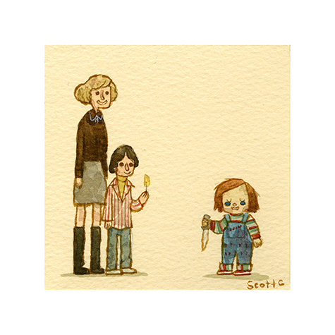 """""""The Doll""""   $15 - 4.75 x 4.75 inches"""