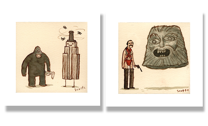 The God  - $15 (4.75x4.75 inches edition of 100)    The King of Empire Buildings    -   $15 (4.75x4.75 inches edition of 100)