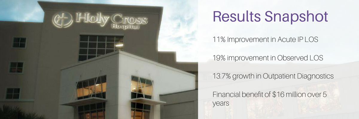 """Holy Cross Hospital's """"iCare"""" Initiative Results in $8.9 Million in Annual Savings"""