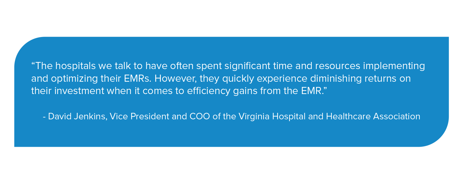 David Jenkins explains why EMRs alone are not enough to optimize patient flow.